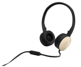 HP Stereo 3.5mm Headset H2800 (Black w. Silk Gold) cons