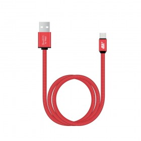 Кабель USB TO USB-C 1M RED 34416 BORASCO