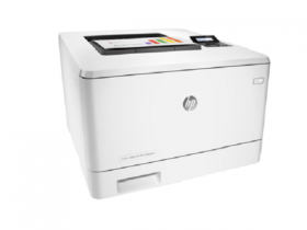 HP Color LaserJet Pro M452dn Printer (A4,600x600dpi,27(27)ppm,ImageREt3600,128Mb,Duplex, 2trays 50+250,USB/GigEth, ePrint, AirPrint, PS3, 1y warr, 4Ctgs1200pages in box, repl.CE957A)