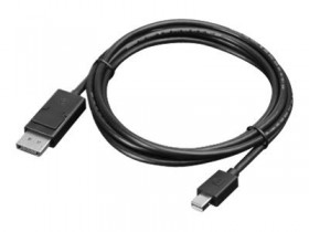 Lenovo Mini-DisplayPort to DisplayPort Cable 2m    ( 20-pin Mini-DP is DP 1.2 / HDCP 1.3,resolution supported is 4096 x 2160 @ 60Hz. backwards compatible to DP 1.1a)