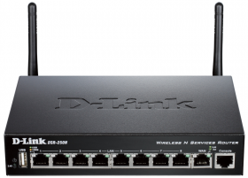 D-Link DSR-250N/B1A, Wireless N300 VPN Gigabit Router with 1 10/100/1000Base-T WAN ports, 8 10/100/1000Base-T LAN ports and 1 USB ports.Firmware for Russia. 802.11b/g/n compatible, 802.11N up to 300